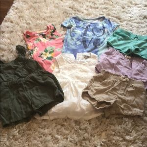 LOT of 7 girl 3t clothes